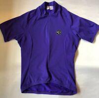 PEARL IZUMI womens Short Sleeve Purple Small Zipper Cycling Top