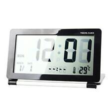 Réveil De Voyage Maison Bureau Pliable à Écran Multifonction LCD Horloge