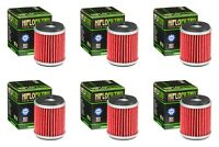 Yamaha YZF 250 2003 - 2008 Oil Filter Set HiFlofiltro HF141 Pack of 6