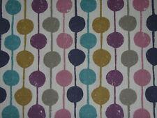 "Scion Curtain Fabric Remnant ""taimi"" 140 Wide X 90 Cm Damson/azure/stone"