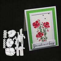 Stanzschablone Blume Pflanze Weihnachten Hochzeit Oster Geburstag Einladung DIY