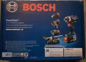 NEW BOSCH GSR18V-535FCB15 FlexiClick 5-IN-1 DRILL/DRIVER SYSTEM 18V