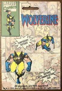 Wolverine Temporary Tattoos Marvel Comics (1993) Don King's Removable Tattoos
