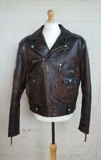 Vintage Harley Davidson Classic Leather Biker Jacket
