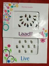 Indian Bindi Fancy Party Crystal Multi-Color Temporary Forehead Jewels 2 pack