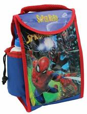 Official Marvel Spiderman Kids 2 Piece Thermal Lunch Bag Bottle School Set