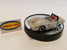 TYCO PRO A/P CORVETTE RACE CAR  - SILVER #8 - BRASS PAN CHASSIS - HO SLOT CAR