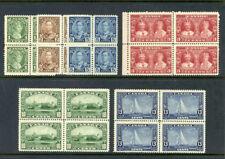 Canada 1935 KGV Silver Jubilee set complete blocks MNH. SG 335-340. Sc 211-216.