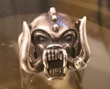 lemmy motorhead silver ring size 11 1/2  heavy metal biker punk