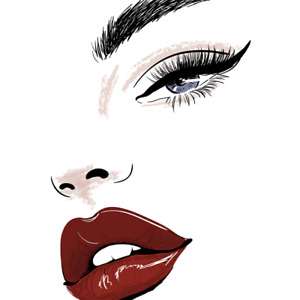 Nordic Modern Sexy Woman Red Lips Poster Prints Room Home Decoration Free Ship