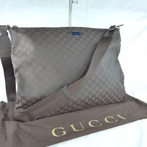 Authentic Rare Gucci Brown GG Canvas Large Crossbody Messenger Shoulder Bag VGC
