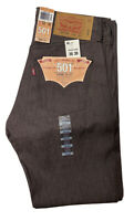NWT Levi's 501 XX Button Fly Straight Leg Jeans Mens 30 X 30 Brown Shrink to Fit