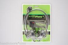 3 Stück Communication PC Computer Headset Stereo Headphone gepolstert Kopfhörer