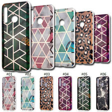 Plating Geometric Marble Soft Case Cover Skin For Huawei Honor 8A 8C 8S 10 Lite