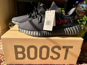 adidas Yeezy Boost 350 V2 Men's US 9.5 Black Red Bred CP9652 New 100% Authentic