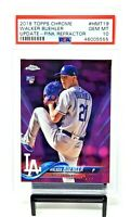2018 Topps Chrome PINK REFRACTOR Dodgers WALKER BUEHLER Rookie Card PSA 10 Pop98