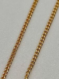 Solid 9ct gold fine 18 inch small curb link chain necklace