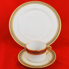 EDEN BLEU Georges Boyer Limoges DINNER PLATE & CUP/ SAUCER NEW NEVER USED France