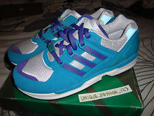 ADIDAS RMX EQT SUPPORT Runner UK 12 nos 12.5 47 1/3 Aqua og FLUX Cojín Blanco