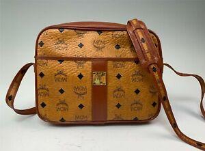MCM Cognac Zippered Crossbody or Shoulder Bag