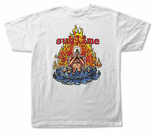 SUBLIME - FLAMING LOTUS ON WHITE T SHIRT NEW OFFICIAL ADULT X-LARGE XL