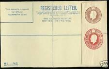 George V Registered Letter 3D Brown +1D Unused Rp32Gb