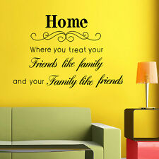 Wall Stickers Mural Decal Paper Art Decoration Home Quote Family Living Room