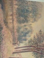 """Art Print: """" On The Banks Of The River"""" Alfred Sisley 1839-1899. 18 C 24 ."""