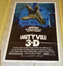 original AMITYVILLE 3-D one-sheet movie poster Tony Roberts Tess Harper