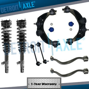 2003-2007 Mazda 6 Front Strut Coil Spring Front Upper Lower Control Arm 8pc Kit