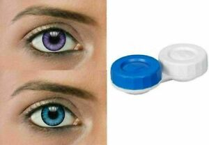 Beautiful zero power Eye lens for Parties Grey, Turquoise Colour .