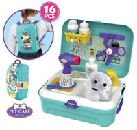 Vet Surgery Bag Backpack Role Play Animal Dog Kids Travel Toy Kids Pet Grooming