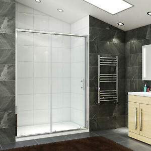 Wall to Wall Sliding Shower Screen Door Bottom Seals Framed Enclosure Easy Clean