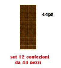 Set 12 Confezioni da 44 Feltrini Sedie Tavoli Adesivi Quadrati 2x2cm moc