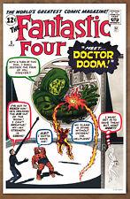 Fantastic Four #5  poster art print '92  Jack Kirby  1st Doctor Doom