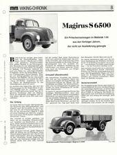 WIKING CHRONIK  MAGIRUS S 6500 PRITSCHENWAGEN in 1-50, von 1992