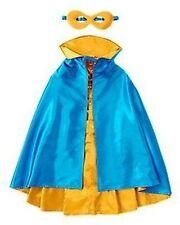 Gymboree Halloween Costume 7-12 Super Hero Set Shiny Blue Gold 7 8 10 12 Large M