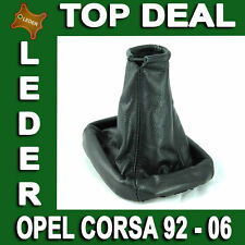Gear Shift Stick Boot Cover Gaiter Genuine Leather For Opel Corsa 1992 - 2006