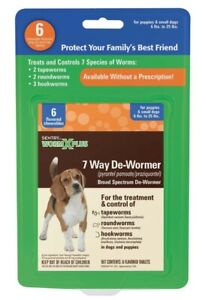 SENTRY Worm X Plus 7 Way De-Wormer for Small Dogs 1ea/6 ct     Free Shipping