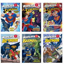 I CAN READ DC Comics Superman and Batman, Level 2 - 6 Book Lot Set NEW