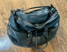 Large Neil Barrett Black Leather Weekender Travel Duffle Bag Italy NO RESERVE