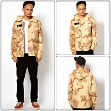 Puma Men's Natural Mmq Military Camouflage Long Sleeve Jacket Size Large