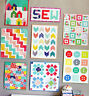 Mini Quilts - 8 fun designs for pieced mini quilts - PATTERN - Cluck Cluck Sew