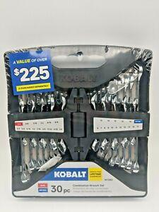 Kobalt 30 Piece Combination Wrench Set SAE & METRIC Stubby 1612982