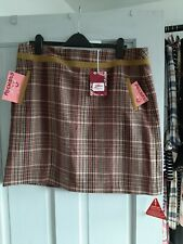 Joe Browns Brown Check Skirt with pockets Size 18 Brand new With Tags