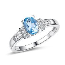 Schöner Blautopas-Ring 925 er Silber Gr. 54/17,2 mm NEU !