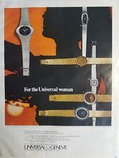 1971 Universal Genevieve women's ladysonic gold silver watch ad