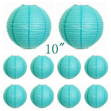 "10Pcs 25cm/10"" Paper Chinese Lantern Lamp Shade Wedding Party Decoration Supply"
