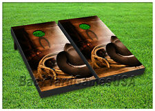 VINYL WRAPS Cornhole Boards DECALS Wild West Cowboy Bag Toss Game Stickers 149