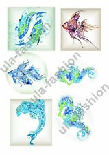 RICE PAPER DECOUPAGE DOLPHINS FISH SEA LIFE VINTAGE CRAFT SHEET SCRAPBOOKING 049